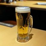 ギュウガテイ - 生ビール 中 450円
