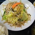 らーめん 梵天 今市店 - 野菜炒め定食 ¥750