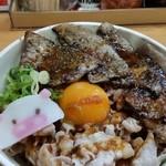 豚マニア丼 稲田屋 サン - 豚マニア丼。豚子、可愛い。