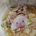 稲田屋 SUN - 出し汁と、わさびON。豚子、まだ、大丈夫。