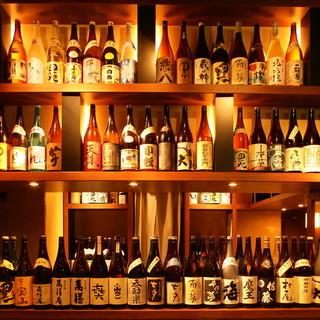 焼酎・ウィスキー・ワイン・日本酒・ソフトドリンクなど種類豊富