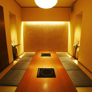 様々なシチュエーションに対応可能な個室完備