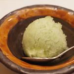 鮨 福原 - 青紫蘇のシャーベット