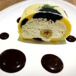 キョウトギオンミュージアムカフェ プロデュース バイ ノースショア - 水玉バナナロールケーキ