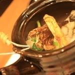 和どころ拓 - 松茸と鱧の土瓶蒸しの具