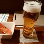 77300966 - ビールとお通し
