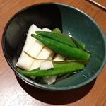 串鳥 - 料理写真:オクラと長芋の浅漬け