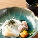 おたる政寿司 - いかの淡泊な味をウニで引き立てる『小樽漁師風いかそうめん』