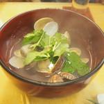焼鳥・海鮮料理 鳥忠 - アサリの酒蒸し