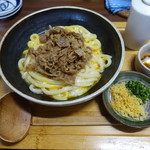 麦衛門 - 2017.11 釜玉肉うどん(750円)
