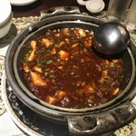 77309622 - マーボー豆腐の土鍋煮込み