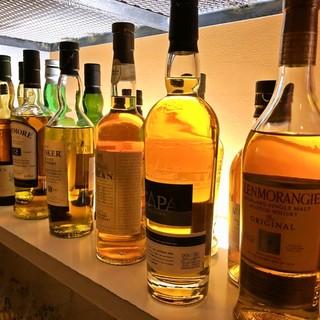 種類豊富なウイスキー