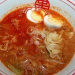 77314417 - こちらはつけ麺。色の違いが分かりますかね?