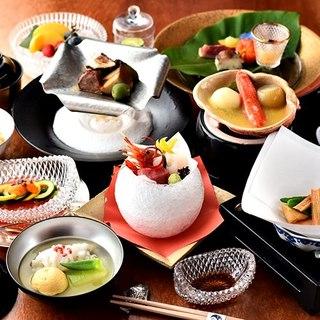 師走の会席料理料理長おまかせ会席料理人気料理が選べます!