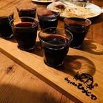 Bistro ひつじや - 90ccの赤ワイングラスが並ぶ!