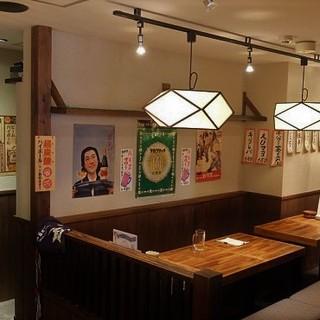 古き良き日本酒場、落ち着いた雰囲気にホットする空間