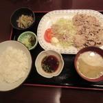 今井総本店 - 黒豚ポン酢定食