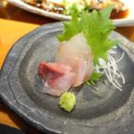 77318815 - 地魚煮付けとミニ刺身定食(1,000円)カンパチとブダイ