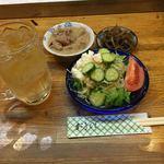 K2 - 料理写真:サラダ、モツ煮、きんぴらごぼう