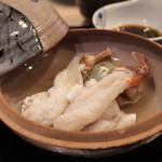 味あら井 - 虎河豚五匹唇の出汁でとったクエ鍋&松葉蟹のしゃぶしゃぶ