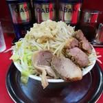 麺でる - 豚ラーメン、ヤサイ、アブラ