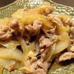 三元豚の生姜焼き