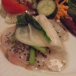 レストラン タイラ - 真鯛のカルパッチョとエゴマ
