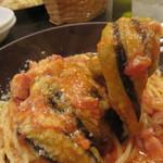 ソルエチェーロ - パスタは選べる6種類の中から『ナスとベーコンのトマトソースパスタ』。