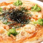 Twice up - エビとブロッコリーの明太子マヨネーズピザ