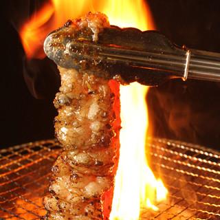 【新宿】居酒屋で七輪備長炭の焼肉を