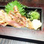 三枚目!貝柱海老蔵 - 森林鶏のたたき