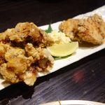 三枚目!貝柱海老蔵 - 森林鶏のから揚げ