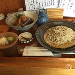 手打ちそば むらかみ - 料理写真:鴨丼定食(1280円税込)