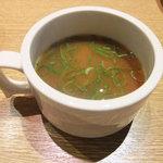 神戸山の手グリル - 味噌汁とかスープも選べます