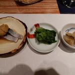 すし瀬名波 - 〆鯖,菜の花,子持ち昆布