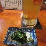 居酒屋 よっしー - ドリンク写真:生ビールとお通し