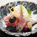 直心房 さいき - 旬の魚にひと手間かけ、食材の妙味を引き出している『お造り』