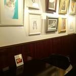 Cafe Chaton Rouge - 猫の絵画