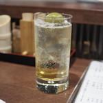新宿うな鐵 恵比寿店 - 梅酒サワー