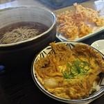 拳流駿河そば - 玉子丼セット 1,000円と桜えびかき揚げ 550円