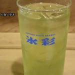 大衆割烹 三州屋 - 焼酎緑茶割りが濃い