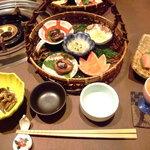 華匠庵 レストラン - 夕飯 籠盛り