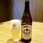 よかよか亭 - [2017/11]瓶ビール・サッポロラガービール(550円+税)