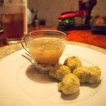 タヴェルナ クアットロ - ランチ:きのこスープ