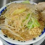 元祖ラーメン 大 - ラーメン(並)  全部多め:野菜・ニンニク・脂・味