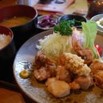 獅子銀 陶の郷店 - 丹波地鶏の唐揚げ定食