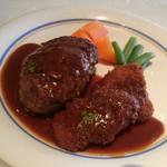 びもん - 和牛ベーシックハンバーグ+ポークカツ 750円