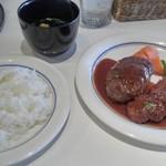 びもん - 料理写真:和牛ベーシックハンバーグ+ポークカツ 750円