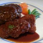 びもん - 和牛ベーシックハンバーグ+ポークカツ