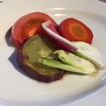 77367903 - 前菜 季節野菜のアンチョビソース